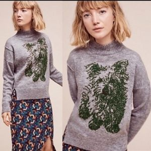 Anthropologie Moth Terrier Dog Sweater Small